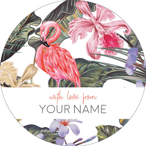 Flamingo Personalised Gifting Stickers