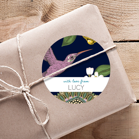 GIFTING STICKERS [pack of 24] ~ Hummingbird