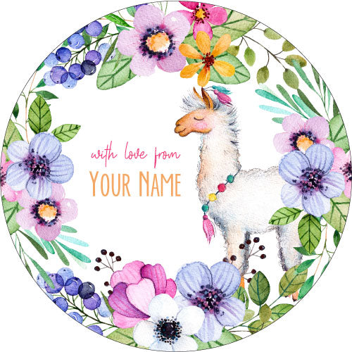 Llama Love Personalised Gifting Stickers
