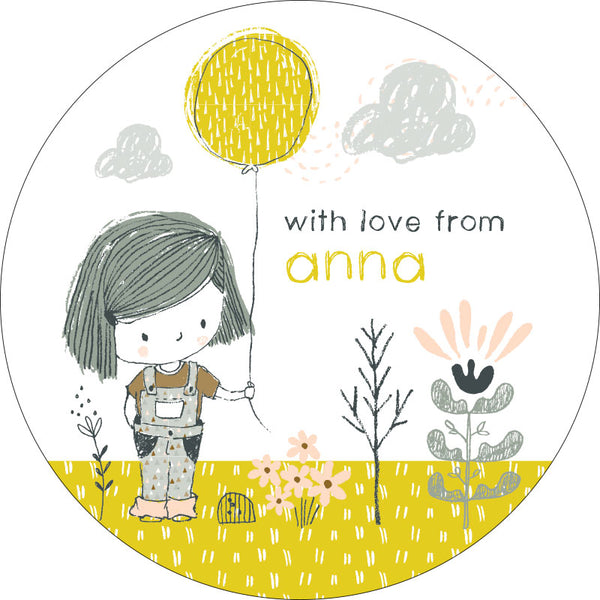 Little Miss Sunshine Personalised Gifting Stickers