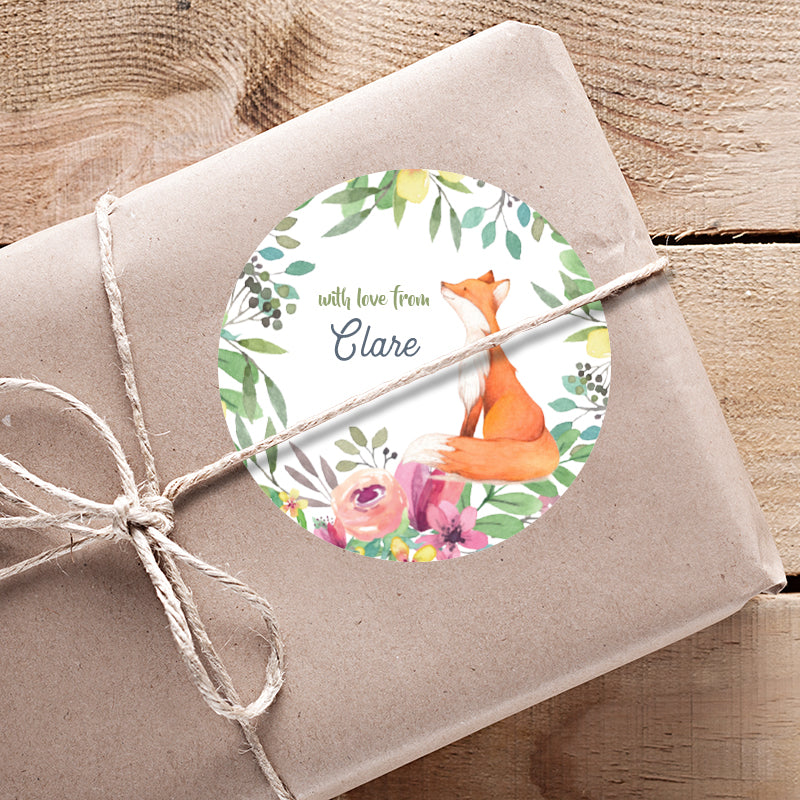 Woodland Personalised Gifting Stickers