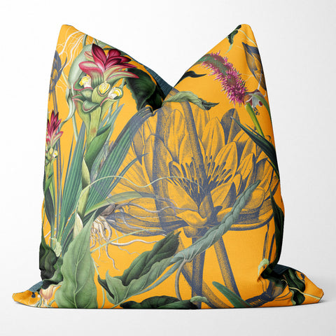 LUSH yellow scatter cushion cover [60x60]