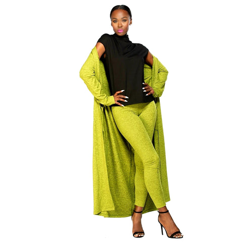 Kimberly Love Duster - Freckled Chartreuse