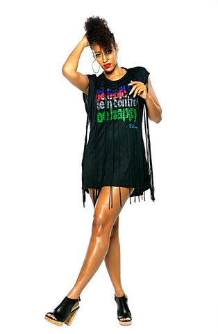 Be Epic! Fringe Tshirt Dress