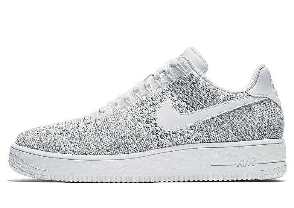 Nike Air Force 1 Flyknit Low - Cool Grey/White