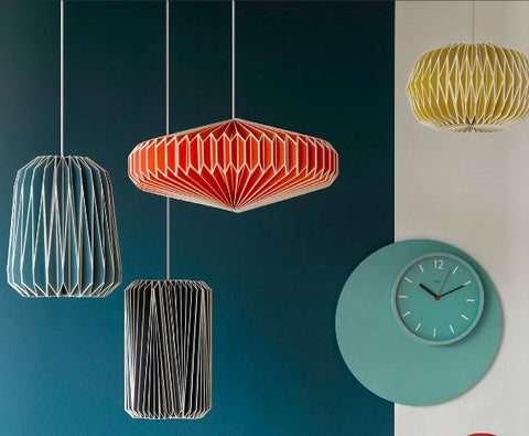 Wild Wood Paper lamp shades by Wild & Wolf