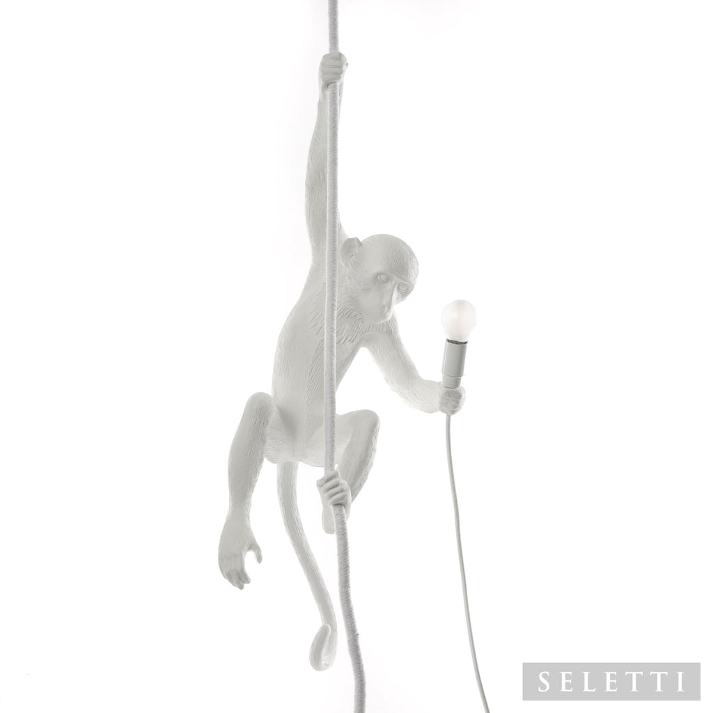 Seletti Monkey Ceiling Lamp (Outdoor) - White