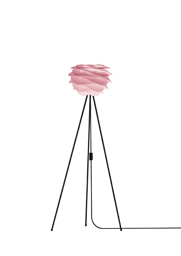 Baby Rose Carmina Floor Lamp - Black Stand