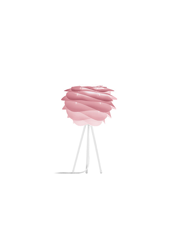 Baby Rose Carmina Table Lamp - White Stand