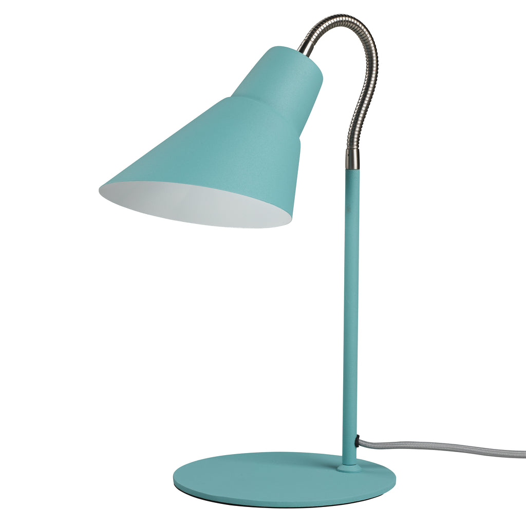 French Blue Gooseneck Lamp