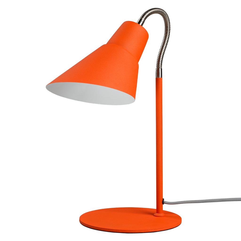 Goldfish Orange Gooseneck Table Lamp