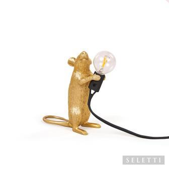 Gold Standing Mouse Lamp