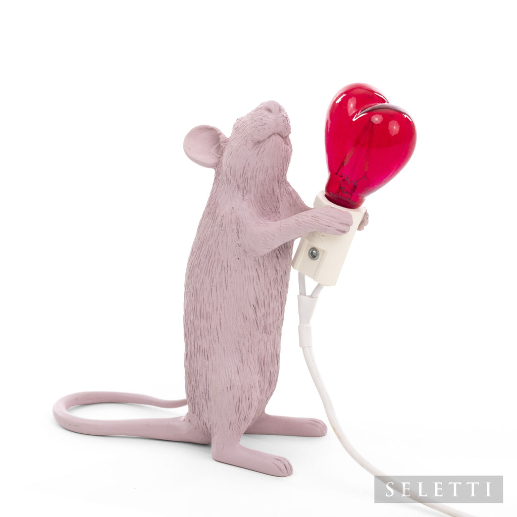 Valentines Pink Seletti Mouse Lamp