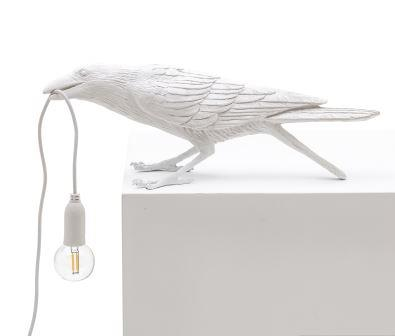 White Bird Lamp Playing - Outdoor