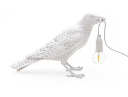 White Bird Lamp Waiting - Outdoor