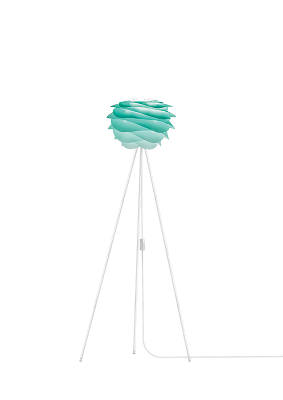 Turquoise Carmina Floor Lamp - White Stand