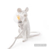 White Sitting Mouse Lamp
