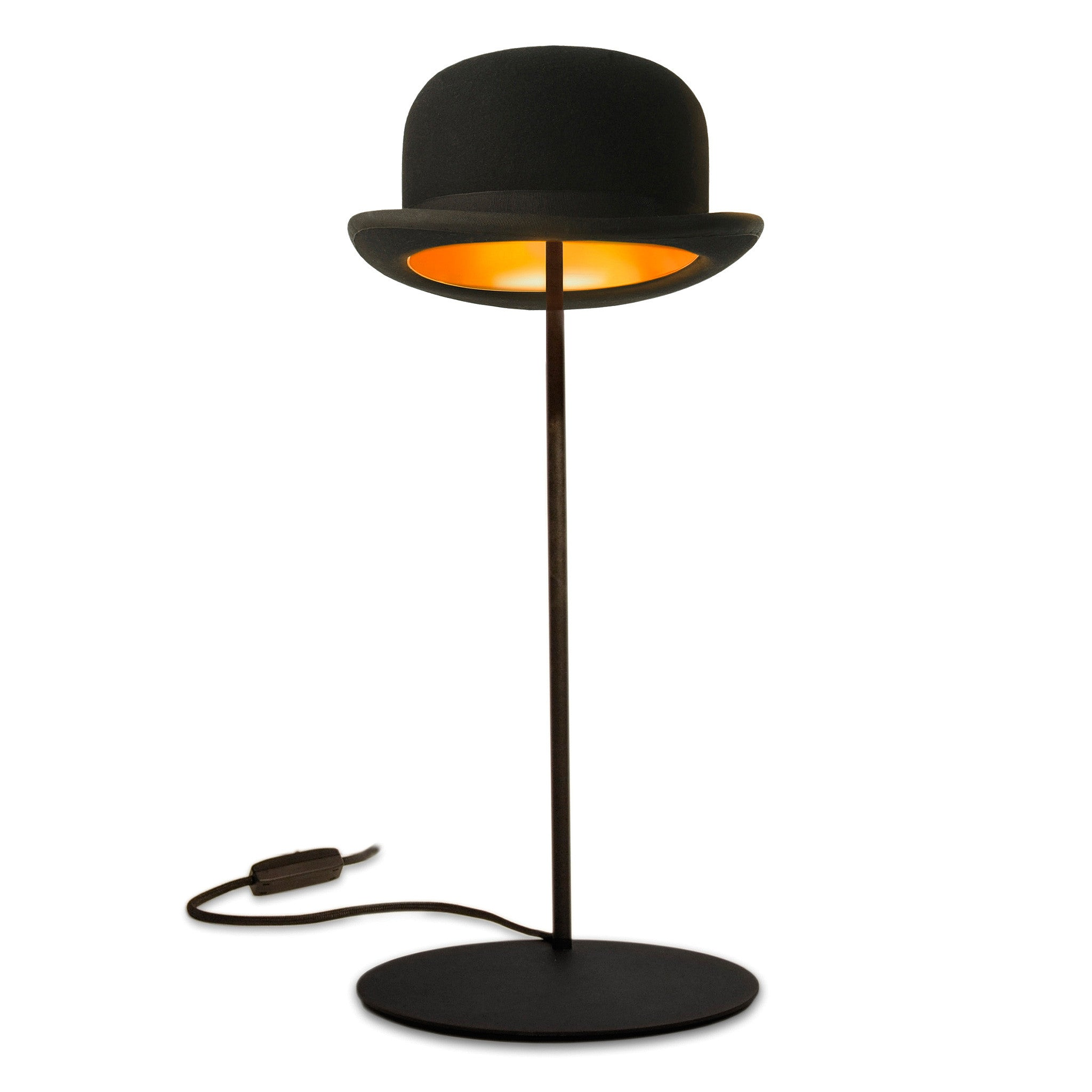 Jeeves bowler hat table lamp by jake phipps innermost funky lamp jeeves bowler hat table lamp aloadofball Image collections