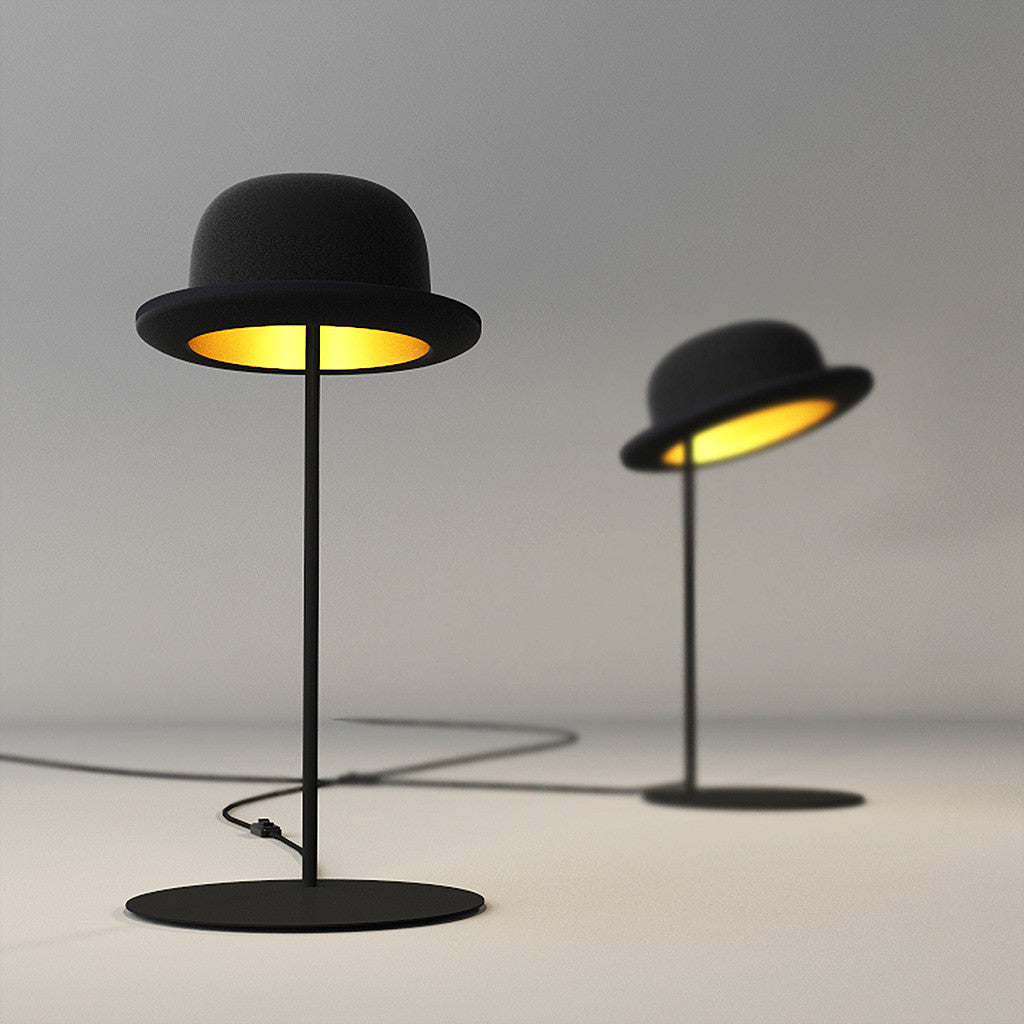 Jeeves bowler hat table lamp by jake phipps innermost funky lamp jeeves bowler hat table lamp aloadofball Images