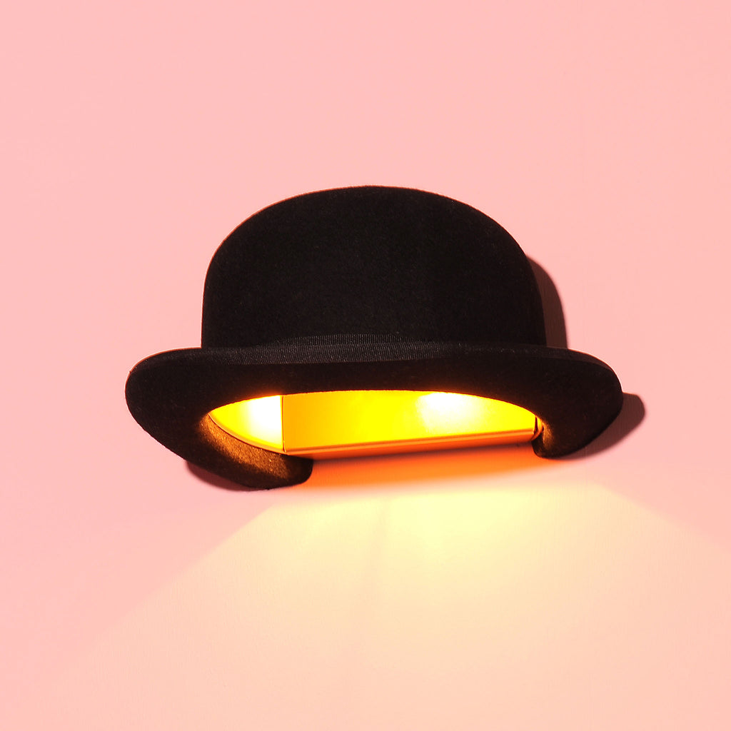 Jeeves bowler hat wall lamp shade by innermost funky lamp shades jeeves bowler hat wall lamp shade aloadofball Images