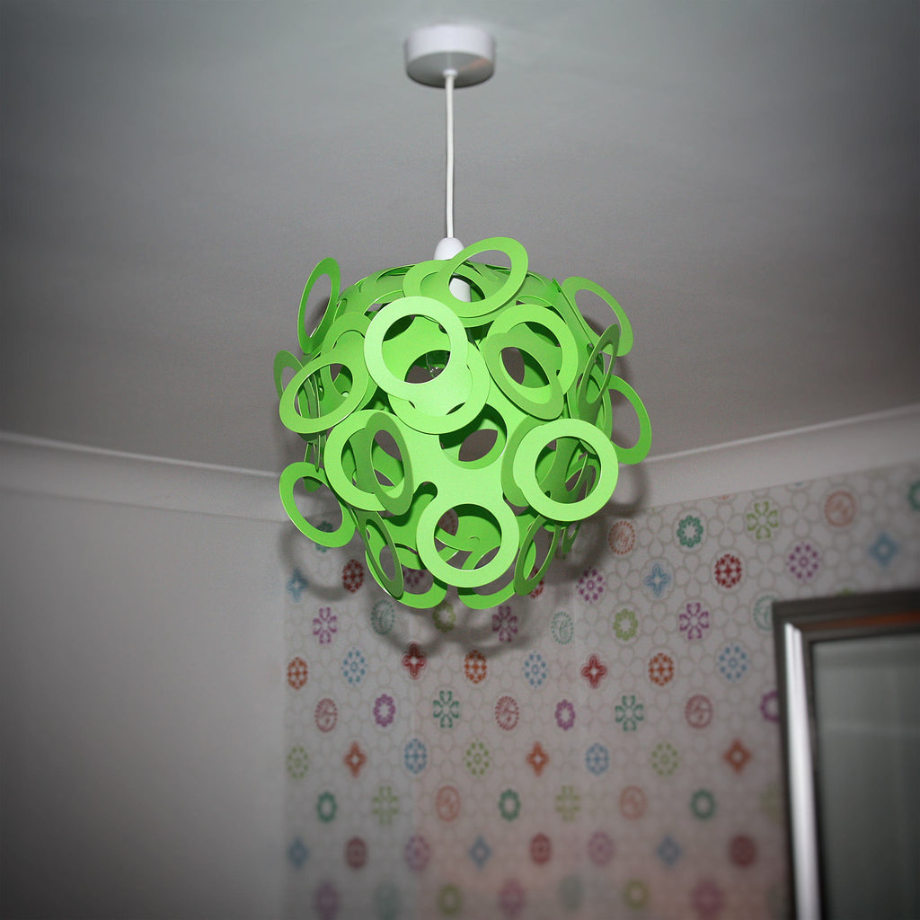 Loopy lu green lamp shade designed by lothair hamman funky lamp shades loopy lu green lamp shade mozeypictures Gallery
