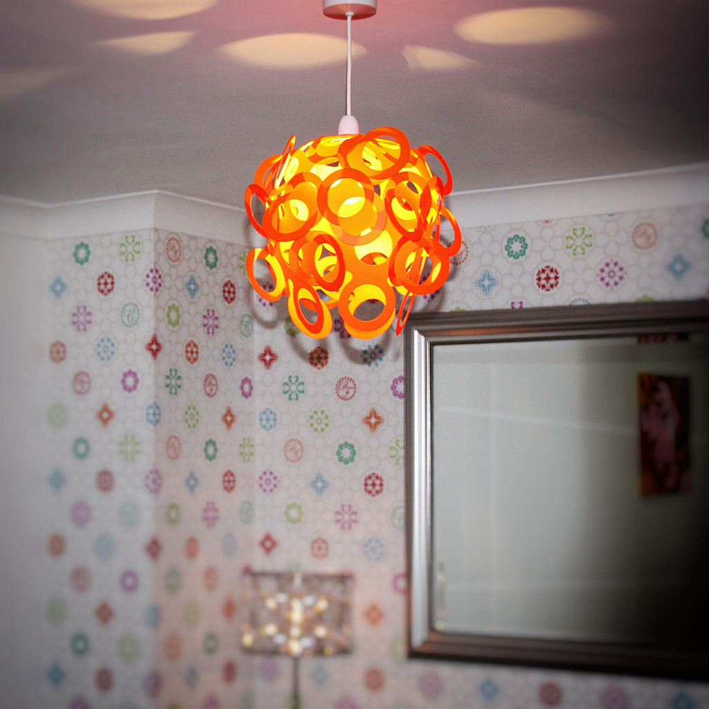 Loopy Lu Orange Lamp Shade Designed By Lothair Hamman Funky Lamp Shades
