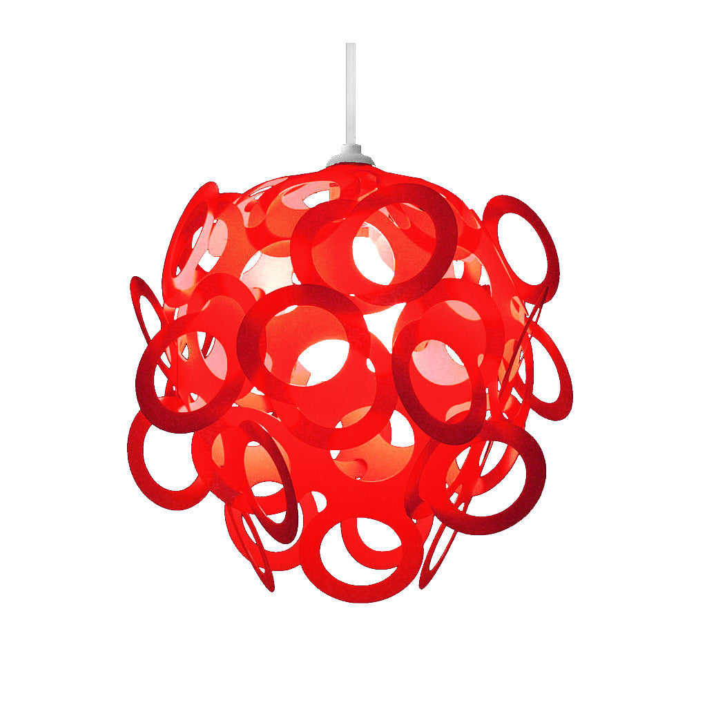 Loopy lu red lamp shade designed by lothair hamman funky lamp shades loopy lu red lamp shade aloadofball Choice Image