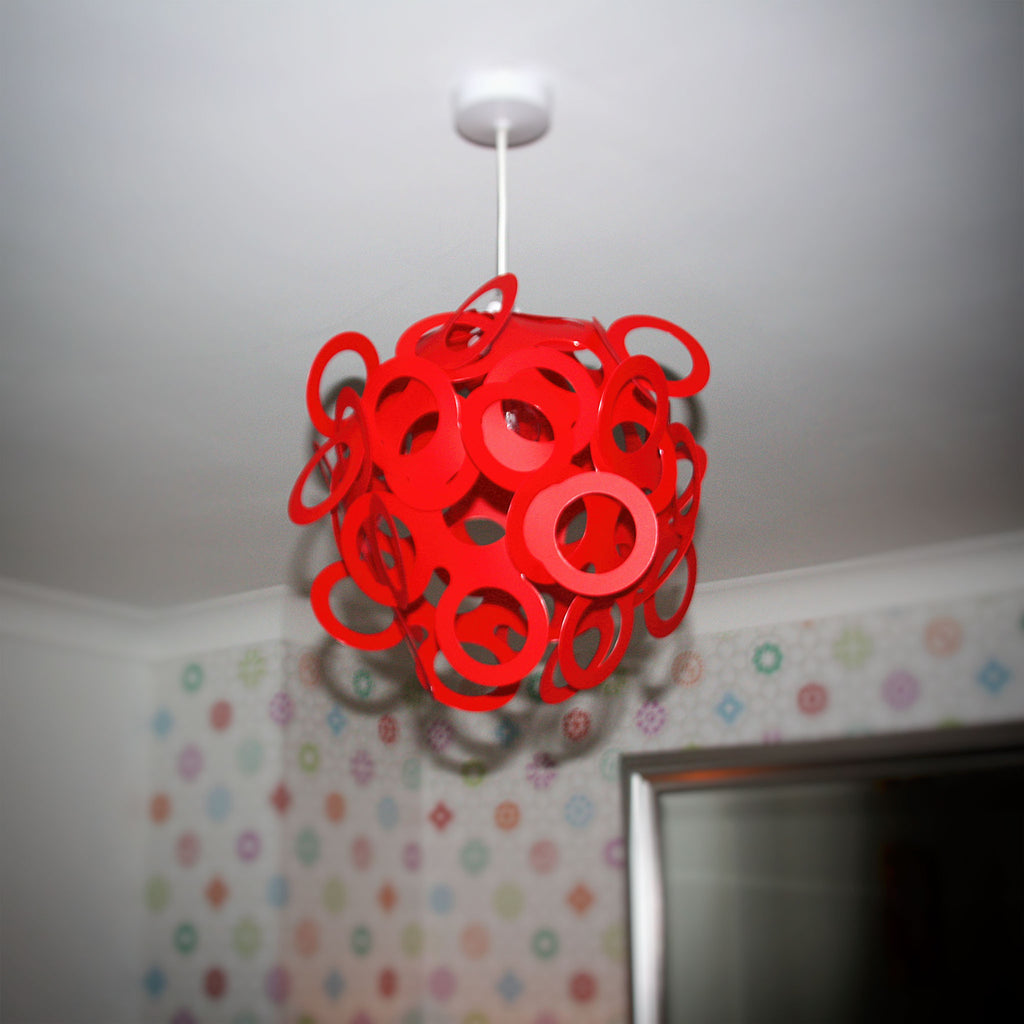 Loopy lu red lamp shade designed by lothair hamman funky lamp shades loopy lu red lamp shade aloadofball Image collections