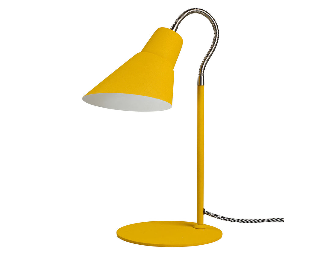 Yellow English Mustard Gooseneck Lamp