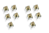 RP4000-MCX-PCBMOUNT - Qty. 10 MCX 6mm x 6mm PCB mounts (additional to those supplied with RP4030)