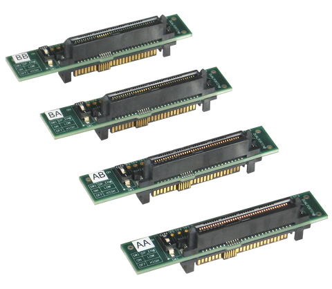 PE-U2-Dual Port Transposer-X - PCIe U.2 Dual Port Transposer, Set of  4 transposer adapters