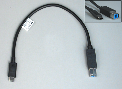 USB02CAB-X - Cable USB 3.1 C to Std-B, 0.3m