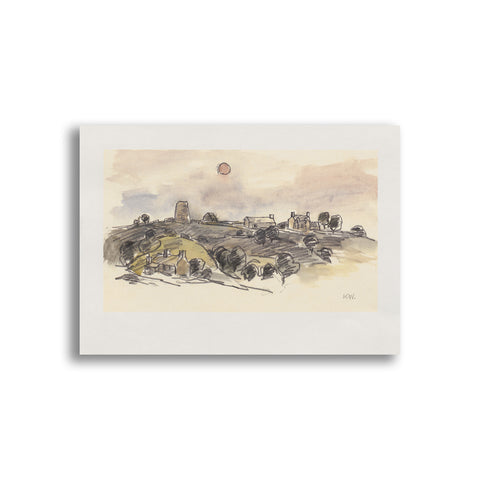Kyffin Williams - Unmounted Print - Glanrafon|Kyffin Williams - Print heb eu mowntio - Glanrafon