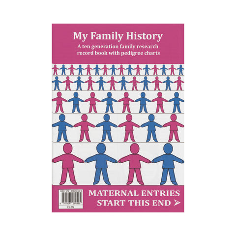 My Family History - A 10 generation family research record book with pedigree charts