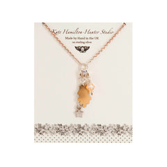Kate Hamilton-Hunter - Gold Oak Leaf Necklace|Kate Hamilton-Hunter - Mwclis Aur deilen dderw