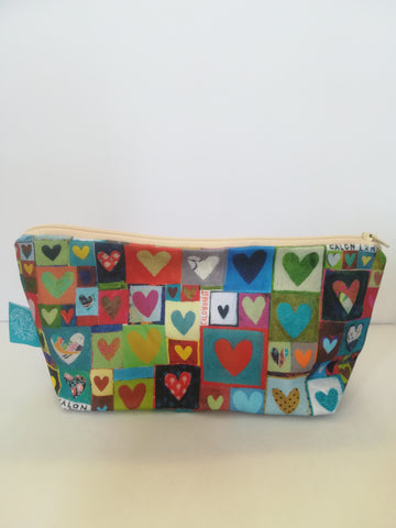 Canvas zipped bag by Lizzie Spikes 'Calon Lân'