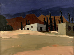 Buildings - Sir Kyffin Williams Print|Adeiladau - Print Syr Kyffin Williams