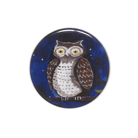 Lizzie Spikes - Pocket Mirror (Owl)|Lizzie Spikes - Drych Poced (Gwdi-Hw)
