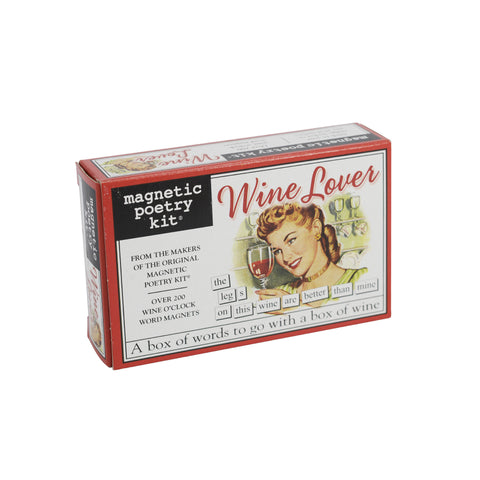 Magnetic Poetry Kit - Wine Lover|Cit barddoniaeth magnetig - Wine Lover