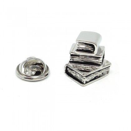 Lapel Pin - Stack of three books|Pin Llabed - Pentwr o dri llyfr