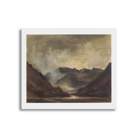 Kyffin Williams - Unmounted Print - Llanberis Pass|Kyffin Williams - Print heb eu mowntio - Llanberis Pass