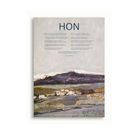 Hon - T H Parry-Williams - Poster|Hon - T H Parry-Williams - Poster