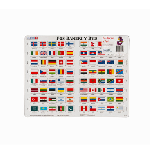 Flags of the World - Jigsaw Puzzle|Baneri y Byd - Pos Jig-so