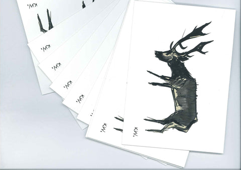 Christmas Cards - Kyffin Williams - Stag|Cardiau Nadolig - Kyffin Williams - Stag