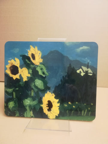 Sunflowers - Sir Kyffin Williams Place Mat|Sunflowers - Mat Bwrdd Syr Kyffin Williams