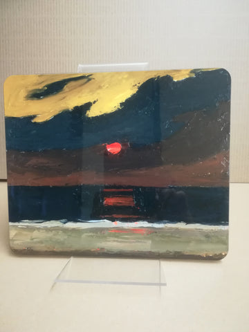Sunset of Anglesey - Sir Kyffin Williams Place Mat|Sunset over Anglesey - Mat Bwrdd Syr Kyffin Williams