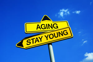 banner about anti aging - staying young