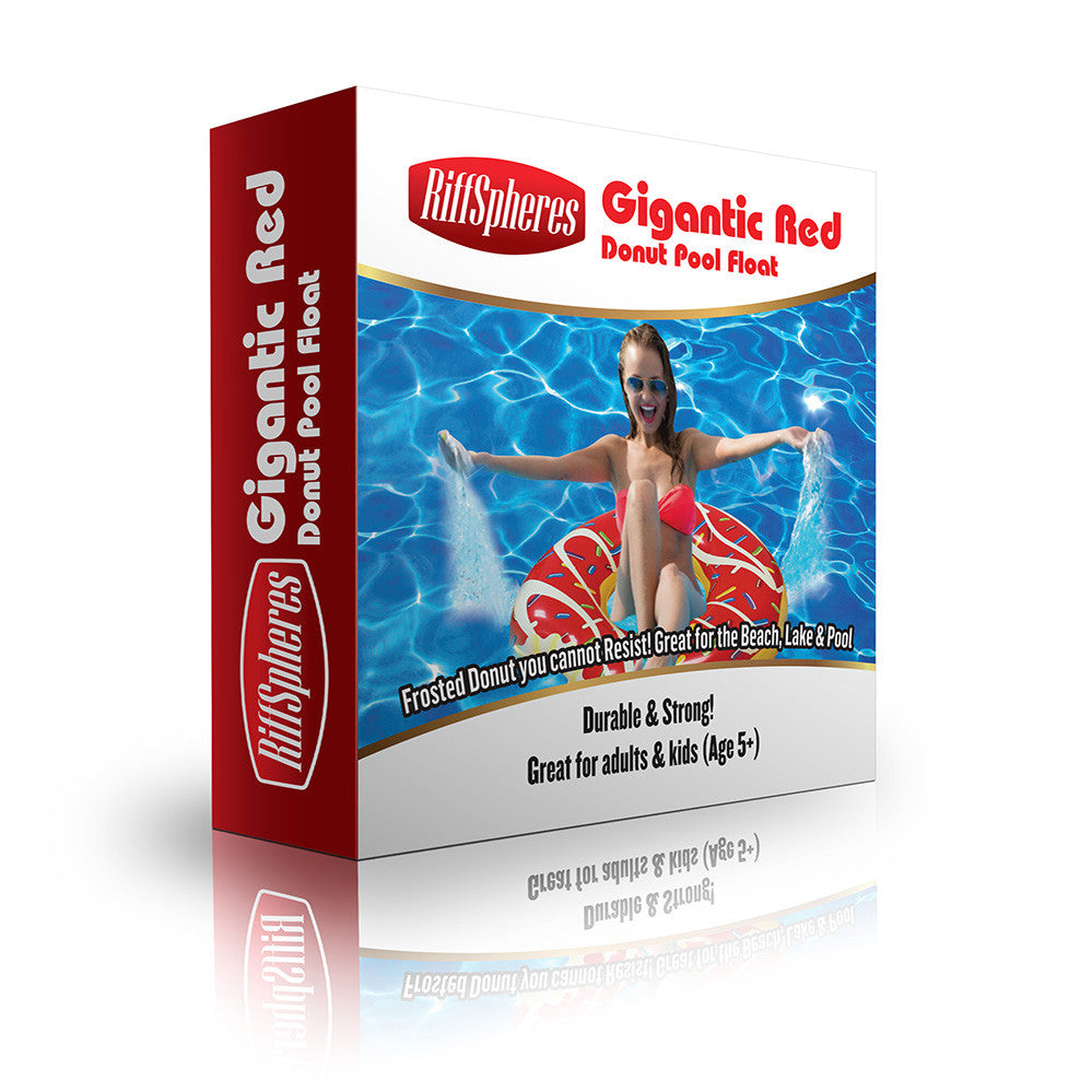 Giant Red Swimming Pool Float - RiffSpheres™ - 4