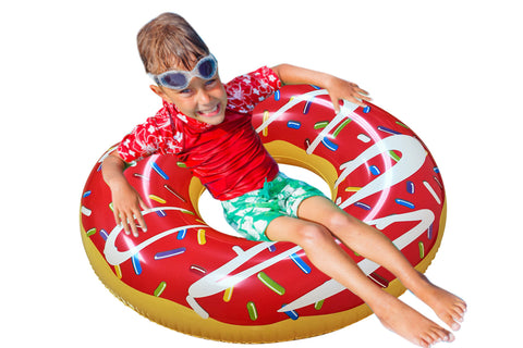 Inflatable Donut Pool Floats Purple
