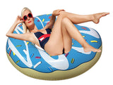 Inflatable Blue Donut Pool Floats